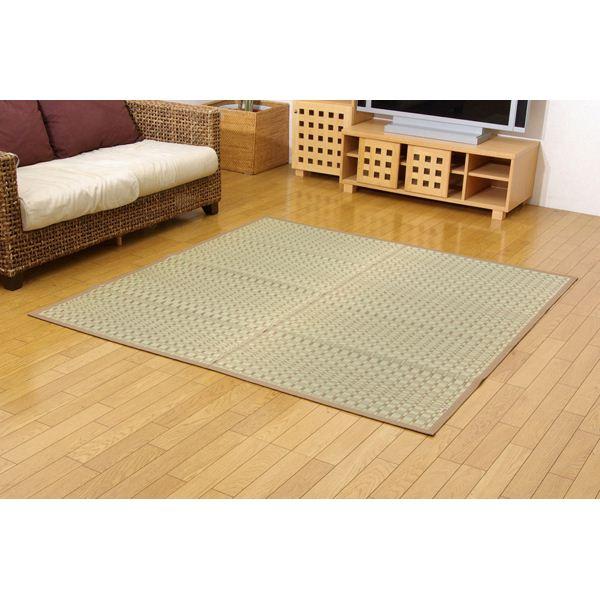純国産/日本製 掛川織 い草カーペット 江戸間2畳(約174×174cm) 正方形