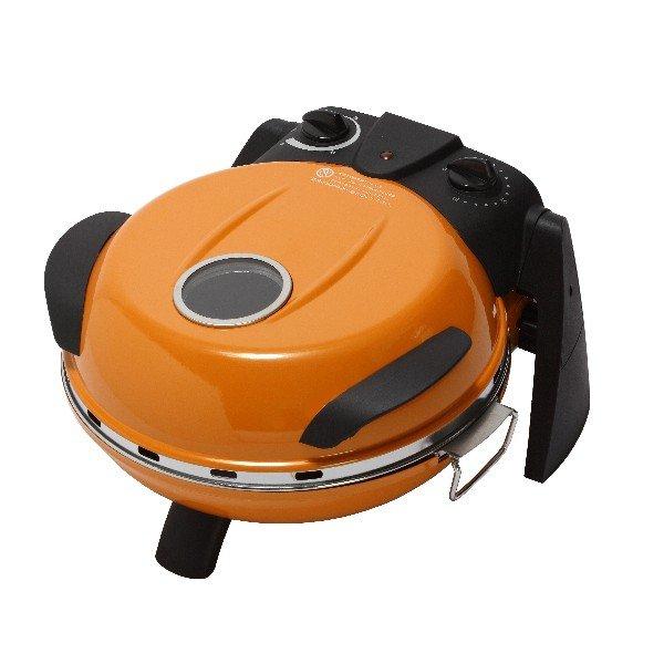 さくさく石窯ピザメーカー/キッチン家電 【オレンジ】 3段階温度調節可 15分タイマー付き FPM-160or【代引不可】