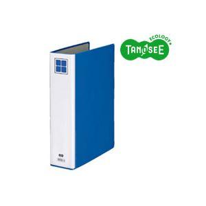 (まとめ)TANOSEE 片開きパイプ式ファイルE A4タテ 50mmとじ 青 30冊