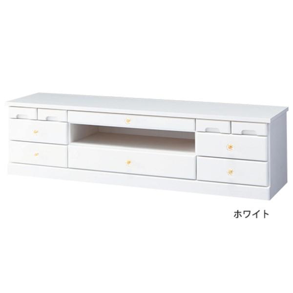 大容量リビングボード(テレビ台/サイドボード) 木製 【3:幅120cm×高さ32cm】 ホワイト(白)