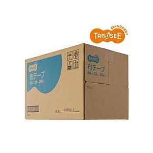(まとめ)TANOSEE 布粘着テープ 重梱包用 50mm×25m 30巻