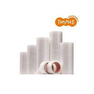 (まとめ)TANOSEE 包装用半透明テープ 50mm×25m 30巻