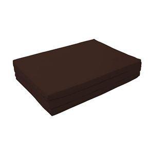 マットレス モカブラウン(仏=ブラウン) ダブル 厚さ6cm 新20色 厚さが選べるバランス三つ折りマットレス【代引不可】