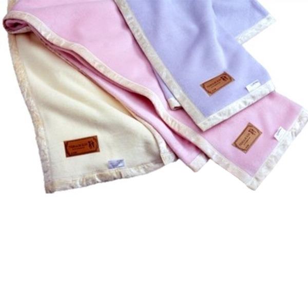 優しい肌触り!国産シルク毛布 シングルブルー 日本製