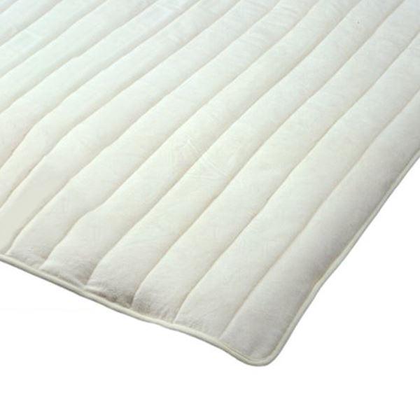 無漂白無着色綿毛布素材使用 コットン敷パッド ダブル 綿100% 日本製