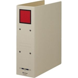 (業務用20セット)キングジム 保存ファイルドッチ 4078 A4S 80mm 灰/赤