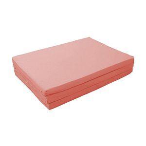 マットレス ローズピンク ダブル 厚さ6cm 新20色 厚さが選べるバランス三つ折りマットレス【代引不可】