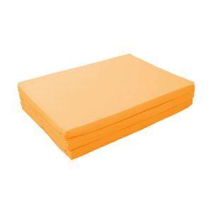 マットレス サニーオレンジ ダブル 厚さ6cm 新20色 厚さが選べるバランス三つ折りマットレス【代引不可】