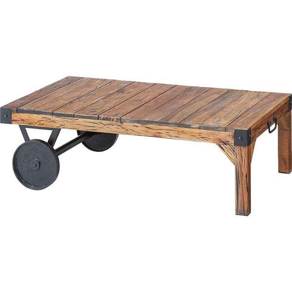 サイドテーブル(トロリー型テーブル) 【Timeless Tender】タイムレステンダー 木製/アイアン TTF-116