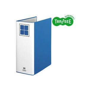 (まとめ)TANOSEE 片開きパイプ式ファイルE A4タテ 100mmとじ 青 30冊