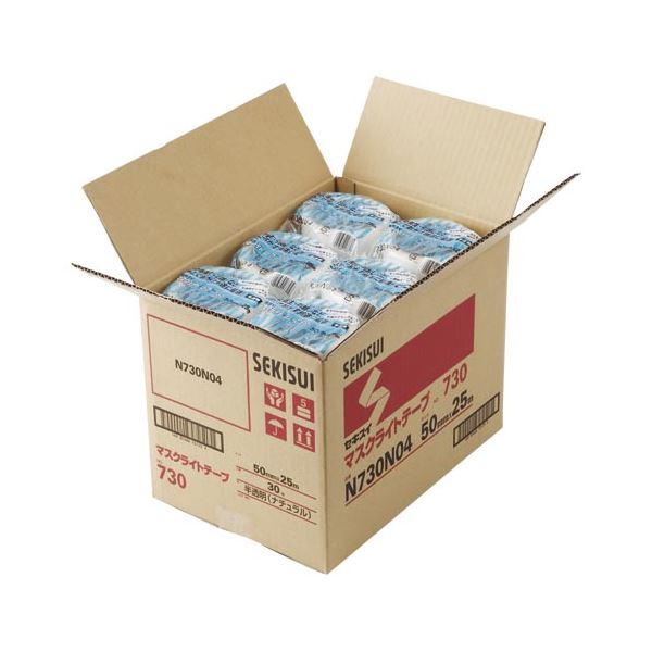 セキスイ マスクライトテープ 30巻入 N730N04×30 半透明 30巻