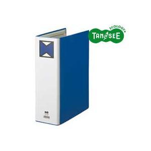 (まとめ)TANOSEE パイプ式ファイル 片開き A4タテ 80mmとじ 青 30冊