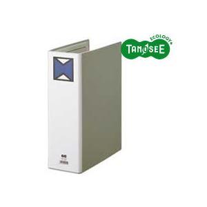 (まとめ)TANOSEE パイプ式ファイル 片開き A4タテ 80mmとじ グレー 30冊