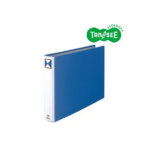 パイプ式ファイル 両開き まとめ TANOSEE 両開きパイプ式ファイル 青 10冊 保障 A3ヨコ 人気の製品 50mmとじ