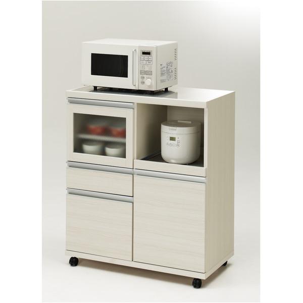 フナモコ ハイタイプキッチンカウンター 【幅84.8×高さ98.3cm】 ホワイトウッド MRS-85 日本製