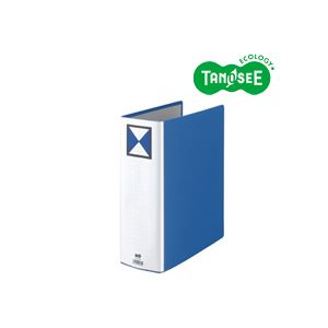 (まとめ)TANOSEE 両開きパイプ式ファイル A4タテ 90mmとじ 青 30冊