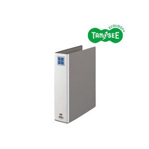 (まとめ)TANOSEE 片開きパイプ式ファイルE A4タテ 50mmとじ グレー 30冊