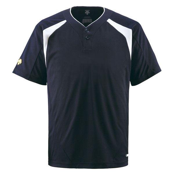 デサント(DESCENTE) ベースボールシャツ(2ボタン) (野球) DB205 Dネイビー XO:Shop E-ASU