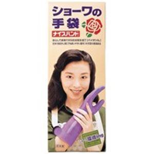 (業務用50セット)ショーワ ナイスハンド厚手 函入 L バイオレット
