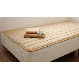 脚付きマットレスベッド セミシングル 脚15cm ナチュラルベージュ 新・ショート丈ボンネルコイルマットレスベッド【代引不可】