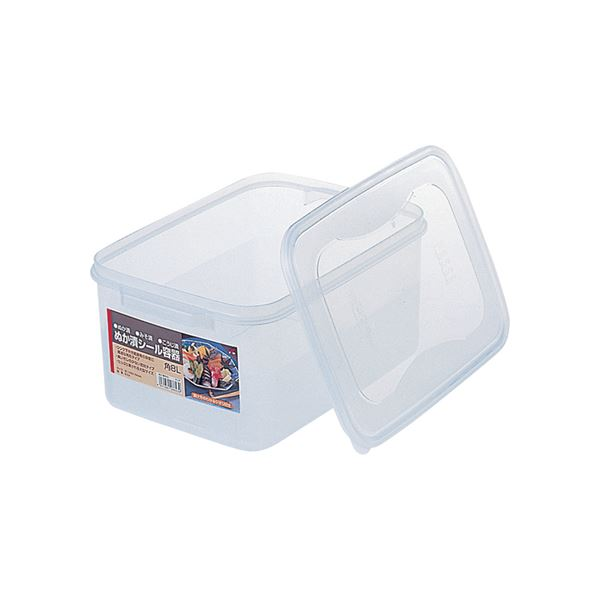 【20セット】 ぬか漬けシール容器/漬物用品 【角8L】 クリア 〔キッチン用品 家庭用品 手づくり〕【代引不可】