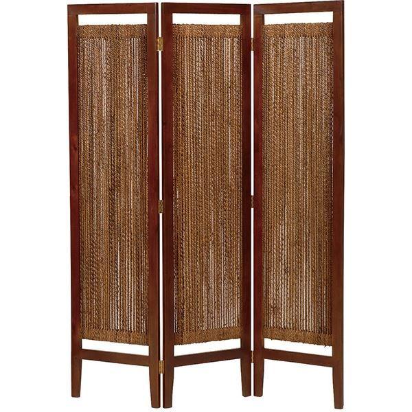 パーテーション(スクリーン) グランツシリーズ 3連 木製 高さ150cm アジアン風 ナチュラル【代引不可】