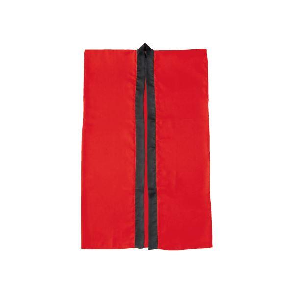 (まとめ)アーテック サテン製はっぴ/法被 【Sサイズ】 ロング丈 袖なし ハチマキ付き レッド(赤) 【×40セット】