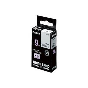 (業務用50セット) カシオ CASIO 透明テープ XR-9X 透明に黒文字 9mm