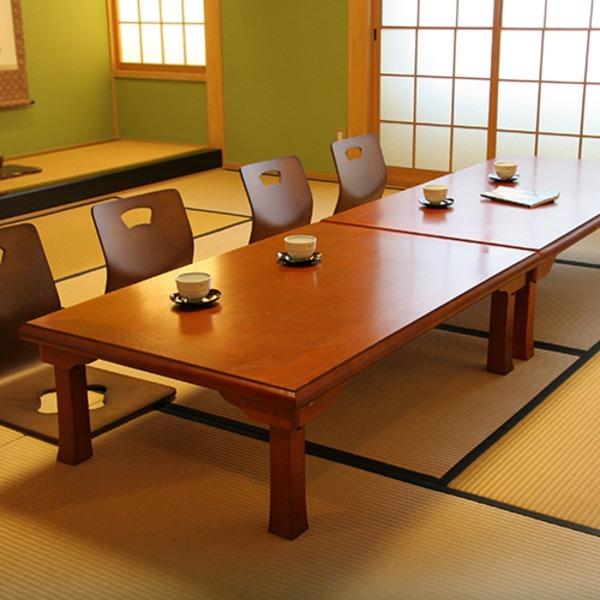 折りたたみテーブル/折脚和風座卓(額縁・幅120cm×奥行75cm) 木製 TLM-12075オーク材 【完成品】【代引不可】