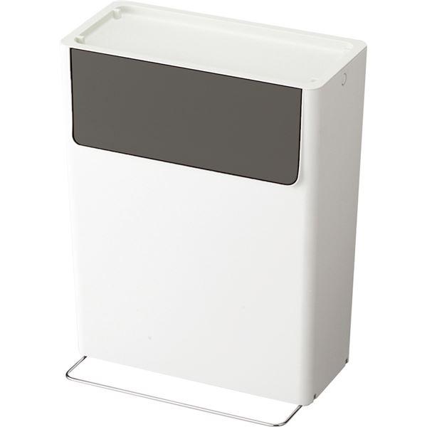【8セット】 重なるダストペールボックス/ゴミ箱 【15SW】 グレー 本体:PP 『HOME&HOME』【代引不可】