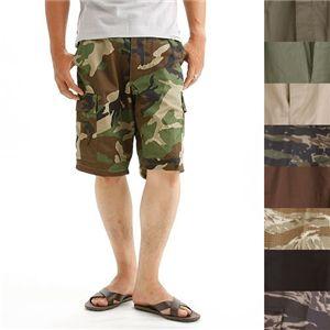アメリカ軍 BDU カーゴショートパンツ /迷彩服パンツ  リップストップ カーキ
