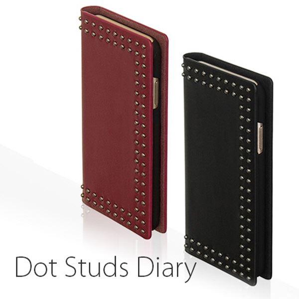 Eboluir iPhone X Dot Studs Diary レッド