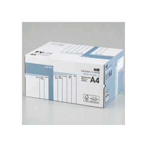 (まとめ) TANOSEE αエコカラーペーパーII A4 ライトブルー 業務用パック 1箱(5000枚:500枚×10冊) 【×10セット】