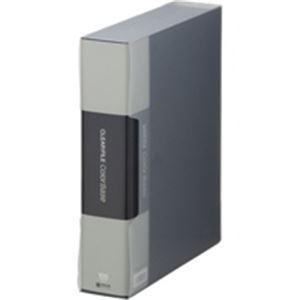 (業務用10セット) キングジム クリアファイル/ポケットファイル 【A4/タテ型】 100ポケット 132-5C ブラック(黒)