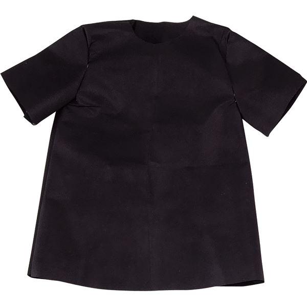 (まとめ)アーテック 衣装ベース 【S シャツ】 不織布 ブラック(黒) 【×30セット】