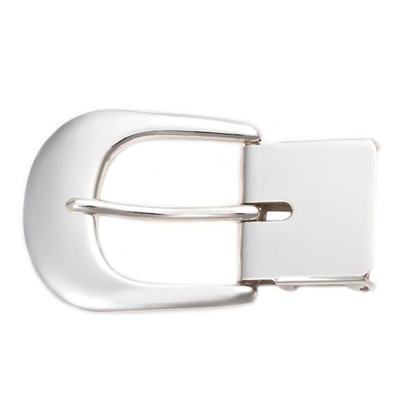 ベルトバックル 美錠B 無地柄 3cmベルト幅用 銀製 磨き仕上げ 日本伝統工芸品 ハンドメイド スターリングシルバー