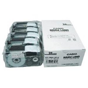 (業務用5セット) カシオ計算機(CASIO) テープ XR-24WE-5P-E 白に黒文字 24mm 5個