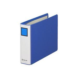(業務用50セット) キングジム パイプ式ファイル/スーパードッチ 【B6/ヨコ型】 とじ厚:30mm 1423 青