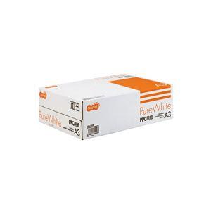 (まとめ) TANOSEE PPC用紙 Pure White A3 1箱(1500枚:500枚×3冊) 【×10セット】