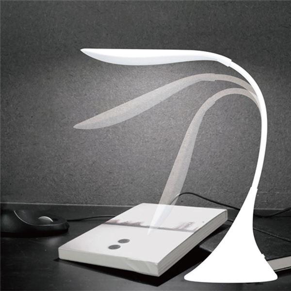 スワンライト/スタンドライト  明るさ無段階調節 乾電池式・USB給電両用