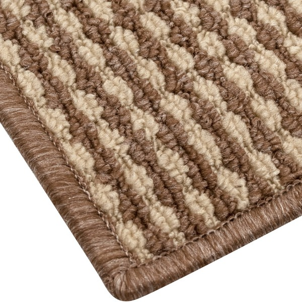 抗菌 防臭 ループカーペット ラグマット / 本間 6畳 286×382cm / ベージュ オールシーズン対応 平織り 『リップル』 九装