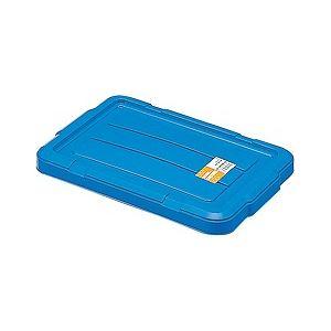 【30セット】 ホームコンテナー/コンテナボックス 【フタのみ単品 HC-07】 ブルー 材質:PP 〔汎用 道具箱 DIY用品 工具箱〕【代引不可】
