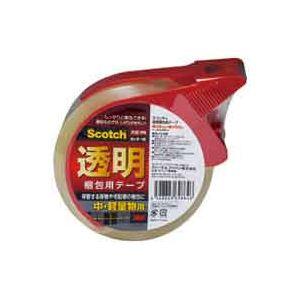 バーゲンで 3M (業務用100セット) 透明梱包用テープ 1PN:Shop E-ASU 313D スリーエム カッター付-DIY・工具