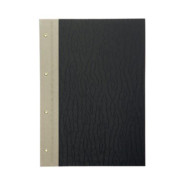 (まとめ) TANOSEE とじ込表紙 クロス貼り A4タテ 4穴 1セット(10組20枚:1組2枚×10パック) 【×3セット】
