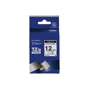 (業務用30セット) brother ブラザー工業 文字テープ/ラベルプリンター用テープ 【幅:12mm】 TZe-335 黒に白文字
