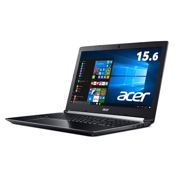 Acer Aspire 7 A715-71G-A58H/K (Core i5-7300HQ/8GB/128GBSSD+1TB HDD/ドライブなし/15.6/Windows 10Home(64bit)/Officeなし/オブシディアンブラック)