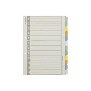 (業務用100セット) ジョインテックス 再生インデックスA4S 6色12山5組 D137J-12Y