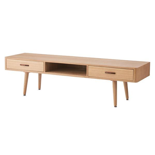 北欧調テレビ台/テレビボード 【幅150cm ナチュラル】 木製 NYT-784NA