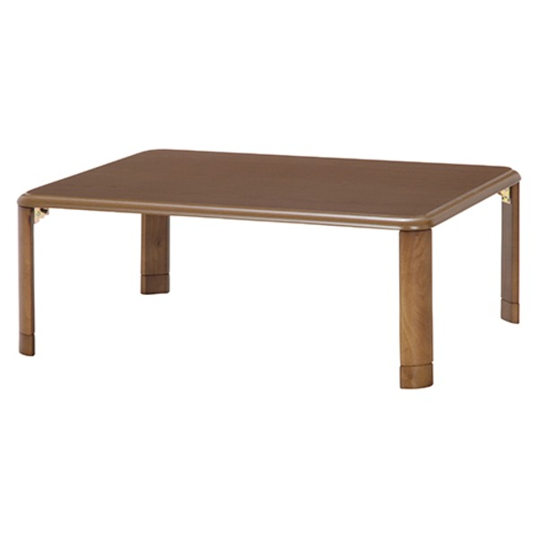和モダン風 折りたたみ座卓/ローテーブル 【幅105cm】 マイルドブラウン 軽量継ぎ脚 〔リビング〕【代引不可】