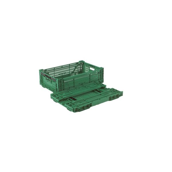 折りたたみコンテナー/オリコン 【RS-MM33S】 グリーン 材質:PP ワンタッチ組立【】:Shop E-ASU